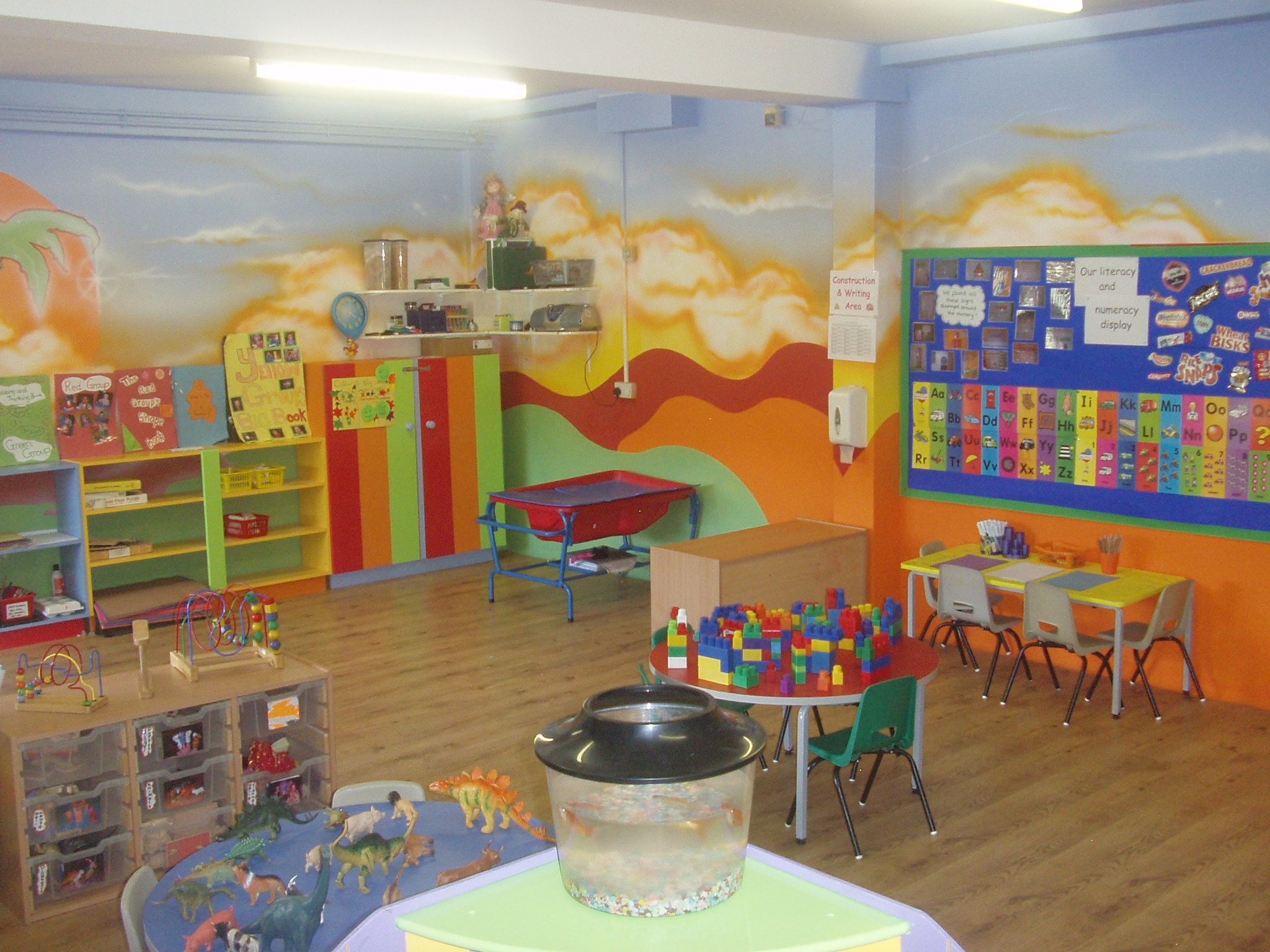 Preschool Classroom Design With Colorful Decoration Layout Recipes And